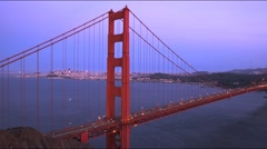 Golden gate bridge at dusk Stock Footage