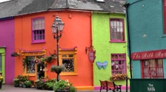 Colorful town of Kinsale, Ireland Stock Footage