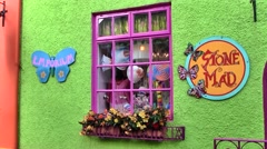 Colorful Store in Kinsale, Ireland Stock Footage