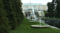 Grand Palace view in Peterhof Russia Stock Footage