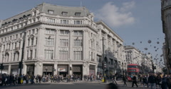 4k View of  Oxford Circus wide shot.  - stock footage