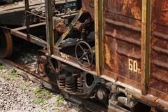 Dirty and old industrial wagon Stock Photos