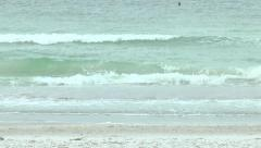 Stock Video Footage of Waves off the coast of Indian Rocks Beach, Florida