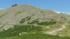Snezka/Sniezka mountain. The highest point in the Czech Republic Stock Footage