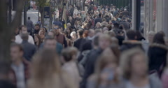 4k Large Anonymous Crowd/Pedestrians - stock footage
