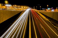 Highway in the Night Stock Photos