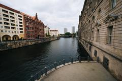 The River Spree, in Mitte, Berlin, Germany. Stock Photos