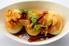 Egg with Tamarind sweet Sauce - stock photo