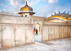 Tourist in Agra Fort Stock Photos