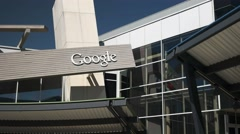 Google headquaters pan Stock Footage
