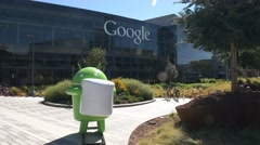Google headquaters android Stock Footage