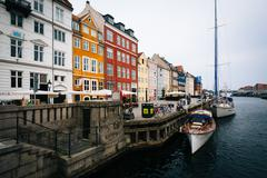The Nyhavn Canal, in Copenhagen, Denmark. - stock photo