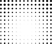 Graphical black and white light effect in halftone style Piirros