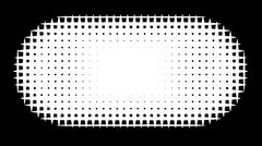 grid pill shape in graphical black and white hatch - stock illustration