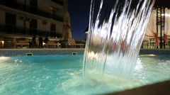 Swiming pool with glowing water Stock Footage