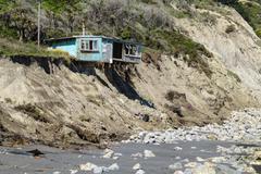 Coastal property damage Stock Photos