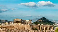 Athens. Acropolis. Parthenon temple. Stock Footage