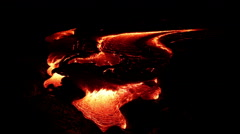 Flowing lava close up, Lava - Kilauea volcano, Hawaii Arkistovideo