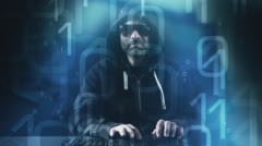 Stock Video Footage of Hacker attack new technology abstract background