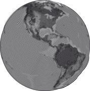 Guilloche Earth Uzumaki Stock Illustration