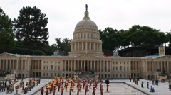 Lego capitol building Stock Footage