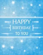 Stock Illustration of birthday card with shinning stars