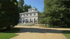 Little White House in Lazienki Park, Warsaw Stock Footage