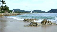 Tropical sea Kalim beach near Patong beach Phuket Thailand Stock Footage
