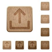 Upload wooden buttons Stock Illustration