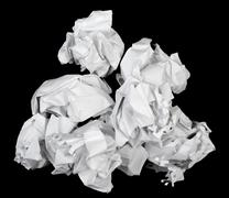 Blank sheets of crumpled paper - stock photo