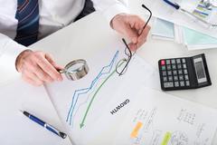 Financial analysis concept Stock Photos