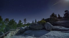 Glacier Point Full Moon Night Timelapse Yosemite National Park Stock Footage