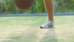 athlete training with ball - stock footage