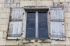 Architecture of Souzay-Champigny,  Maine-et-Loire, Pays de la Loire, France Stock Photos