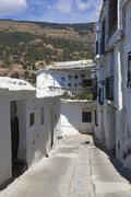 Street of Capileira, Las Alpujarras, Granada province, Andalusia, Spain Stock Photos