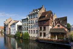 Architecture of the Petite france, Strasbourg, Bas-Rhin, Alsace, France Stock Photos