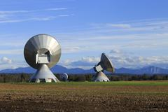 Earth station - stock photo