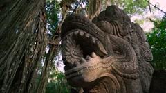 Dragon head statue Stock Footage