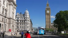 Static shot of Big Ben taken from Parliament Square - stock footage