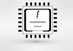 Vector CPU icon - stock illustration