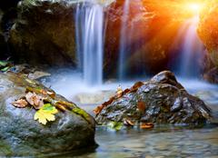 Nice small waterfall Stock Photos