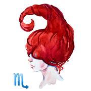 Scorpio horoscope raster Stock Illustration