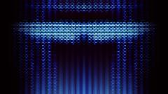 Futuristic Screen Display Pixels Stock Illustration
