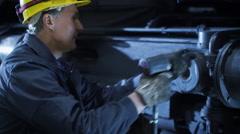 Portrait of Confident Technician in Hard Hat - stock footage