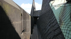 The Powder Tower's roof top in Prague Stock Footage