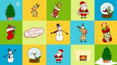 Video screensaver for the holiday Christmas collage Christmas tree with garlands Stock Footage