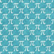 Stock Illustration of Teal and White Pi Symbol Design Tile Pattern Repeat Background