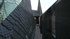 The old Powder Tower's roof top in Prague Stock Footage