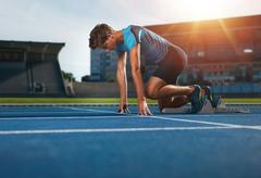 Runner ready for sports exercise Kuvituskuvat