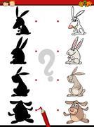 Education preschool shadow task Stock Illustration